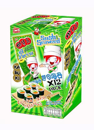 Kabuki Grilled Seaweed Rolled Rice Cracker Sushi Seaweed