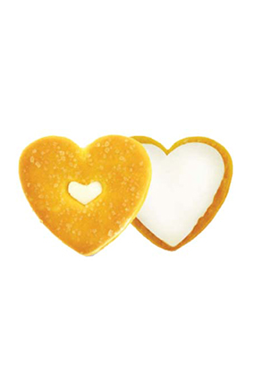 Heart Biscuit With Cream