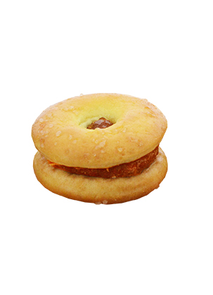 Mini Donut Biscuit With Pineapple jam